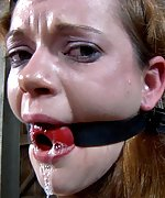 Cuffed, ball-gagged, pegged and trained