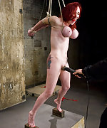 Great breast bondage and hard forced orgams