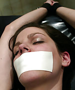 Tied, tape-gagged and forced to cum