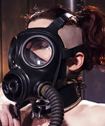 Predicament bondage, gas mask, screaming orgasms