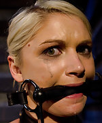 Local blonde roped, clamped, plugged, straponed & vibed