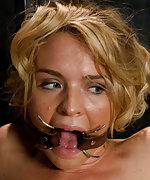 Beauty submits for cock sucking and sex in bondage