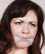Roped in a sweater and cleave-gagged