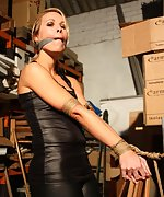 Dutch girl bound, cleave-gagged, hands taped