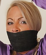 Beautiful and elegant women - bound and gagged
