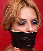 Tied and gagged with several gags for gag test